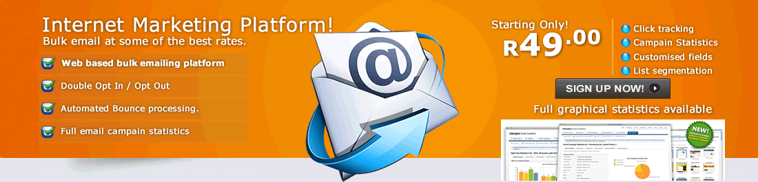 We offer a easy to use email marketing platform, ideal for communicating with your customers